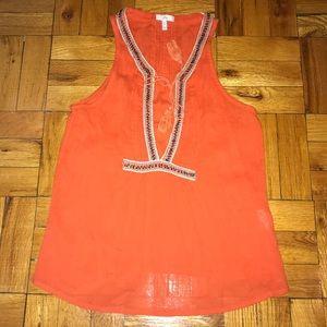 Joie Orange Blouse